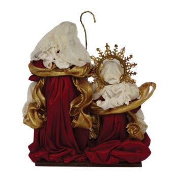 Nativity Scene in Burgundy