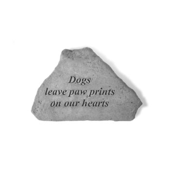 Paw Print Memorial Stone, 5.25 inches