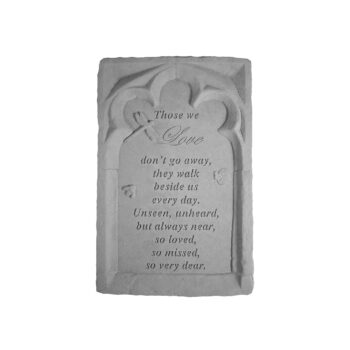 Those We Love Arch Memorial Stone, 14 inches