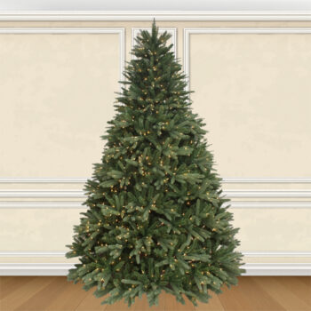 7.5-foot Deluxe Grand Fraser Artifical Christmas Tree Pre-lit with 1400 Sure Lit Clear Lights
