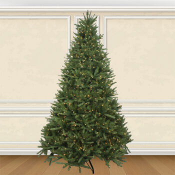 7.5-foot Deluxe Northern Fir Artifical Christmas Tree Pre-lit with 1200 Sure Lit Clear Lights
