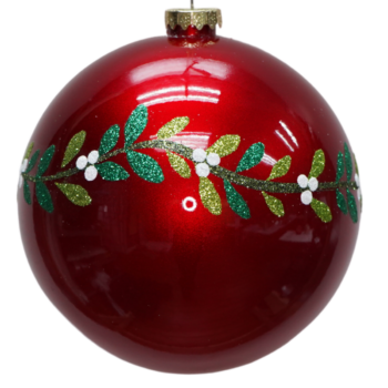 Mistletoe Collection Red Shatter Resistant Ornament, 12 inch