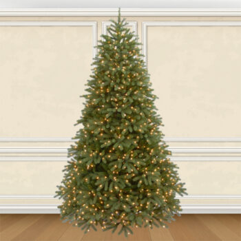 7.5-foot Whitehall Fraser Fir Artifical Christmas Tree Pre-lit with 1000 Clear and Multi Dual-color, Multi-function LED Lights