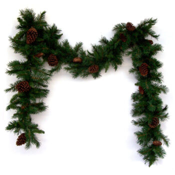 9-foot Anchorage Artificial Christmas Garland with Pine Cones