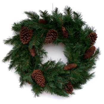 Anchorage Artificial Christmas Wreath with Pine Cones