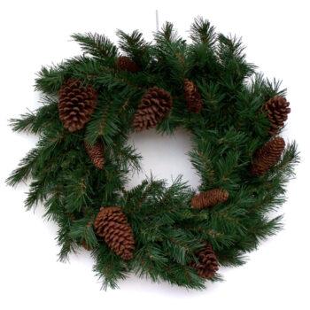 Anchorage Artificial Christmas Wreath with Pine Cones