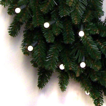 Fraser Fir Artificial Christmas Wreath Pre-lit with Dual-color LED Battery-operated Lights with Timer