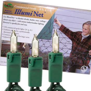 150 Net Light Set with Incandescent Bulbs, 4-foot by 6-foot