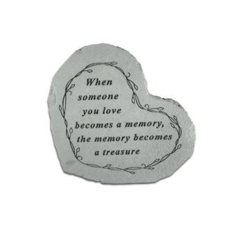 Heart Treasure Memorial Stone, 8.5 inches