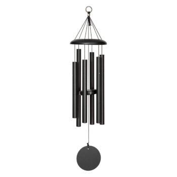 Corinthian Bells Black Windchime, 29 inches