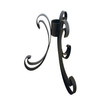 Low Profile Black Gazing Globe Stand, 13 inches tall