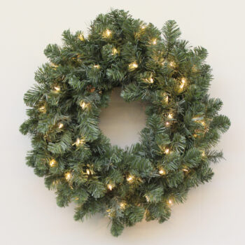 Northern Douglas Fir Christmas Artificial Christmas Wreath Pre-lit with Incandescent Lights