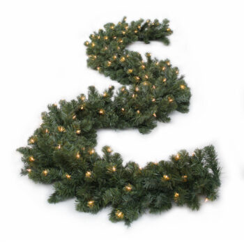 Northern Douglas Fir Artificial Christmas Garland Pre-lit with Incandescent Lights