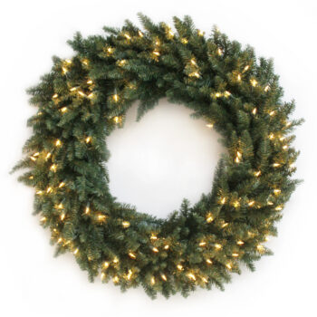 Fraser Fir Artificial Christmas Wreath Pre-lit with Incandescent Lights