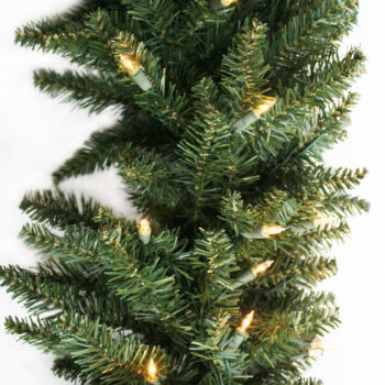 Fraser Fir Artificial Christmas Garland Pre-lit with Incandescent Lights
