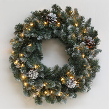 Royal Majestic Fir Artificial Christmas Wreath Pre-lit with Incandescent Lights