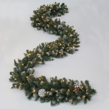 Royal Majestic Fir Artificial Christmas Garland Pre-lit with Incandescent Lights