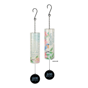 God Has You Cylinder Sonnet Windchime, 36 inches