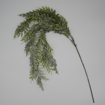 Frosted Glitter Green Hanging Branch