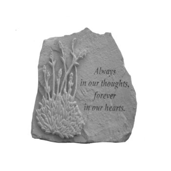 Always In Our Thoughts Memorial Stone, 10 inches