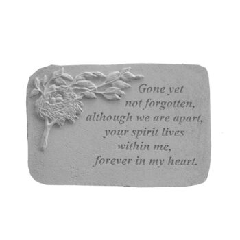 Forever In My Hear Memorial Stone, 15 inches