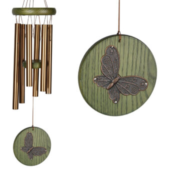 Green Butterfly Habitats Windchime, 17 inches