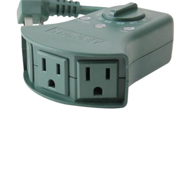 LightTimer Select Outdoor 3-Outlet Darkness Sensing Timer
