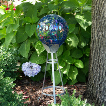 Colorful Peacock Mosaic Gazing Globe, 10 inch