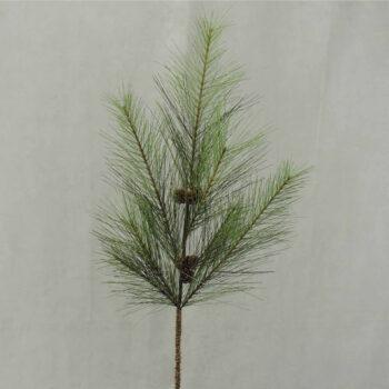 Flocked Pine Cone Branch
