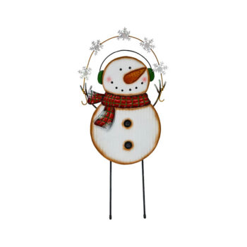 Winter Snowman Yard Stake