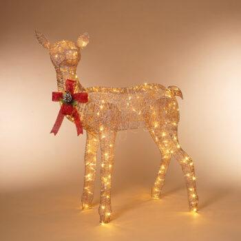 Lighted Standing Reindeer