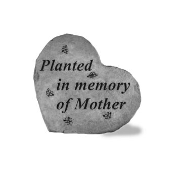 Heart-Shaped Mother Memorial Stone, 8.5 inches
