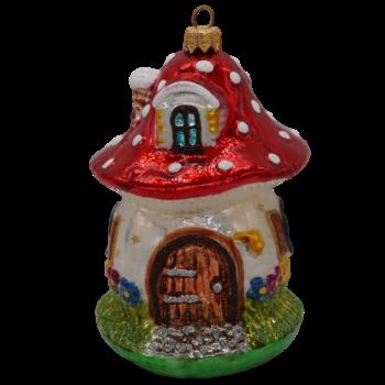 Gnome Mushroom Home Christmas Ornament