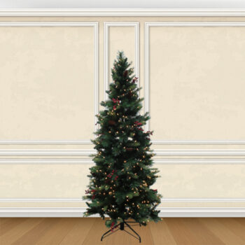 Pre-lit, Decorated Fraser Fir Artificial Christmas Trees