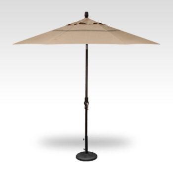 Treasure Garden Collar Tilt 9-foot Aluminum Market Umbrella