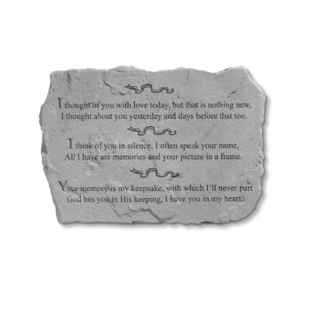 Thought of You Today Memorial Stone, 18.5 inches
