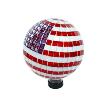 American Mosaic Gazing Globe, 10 inch