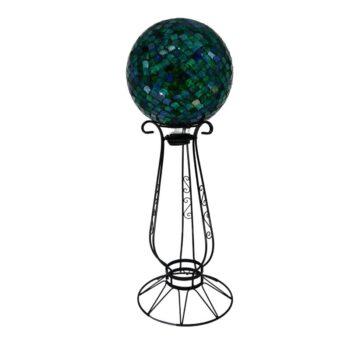 Decorative Black Gazing Globe Stand, 18 inches tall