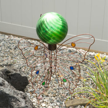 Butterfly Folding Gazing Globe Stand, 29 inches tall