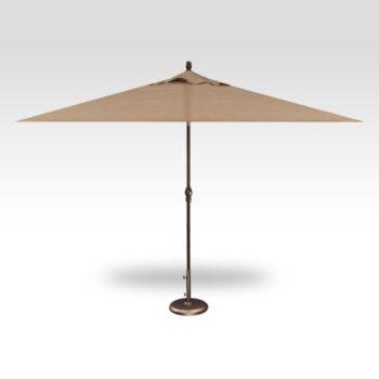 Treasure Garden Auto Tilt 8x10 Foot Rectangular Aluminum Market Umbrella
