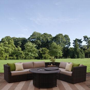 Bellanova 6-piece All-weather Wicker Outdoor Patio Furniture Sectional Sofa Set