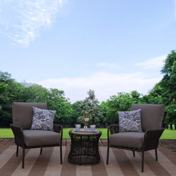 Outer Banks 3-piece All-weather Wicker Outdoor Patio Furniture Lounge Set