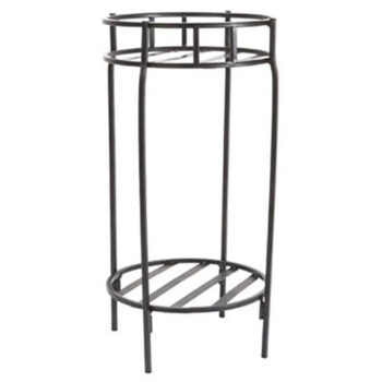 Round Two Shelf Contemporary Plant Stand
