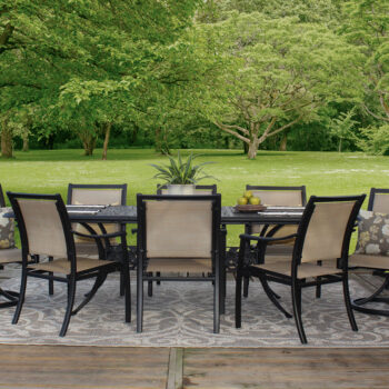 Chateau 42-inch by 76-inch Patio Table expands to 100 inches long
